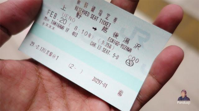 Tiket Reservasi kursi shinkansen