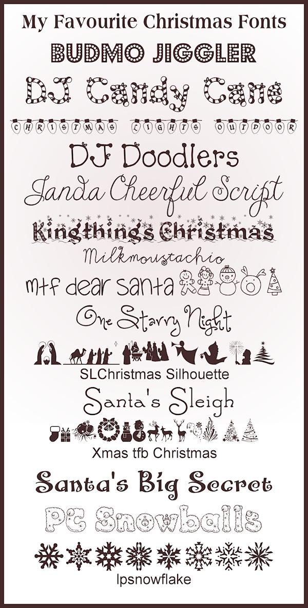 15 Christmas Fonts