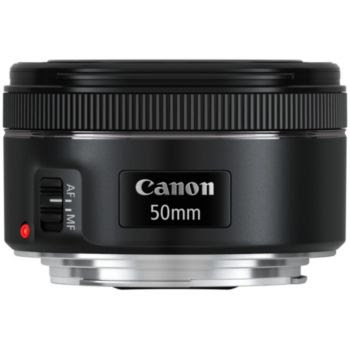 Canon Objectif pour reflex 50 mm / f 1,8 EF STM - Noir