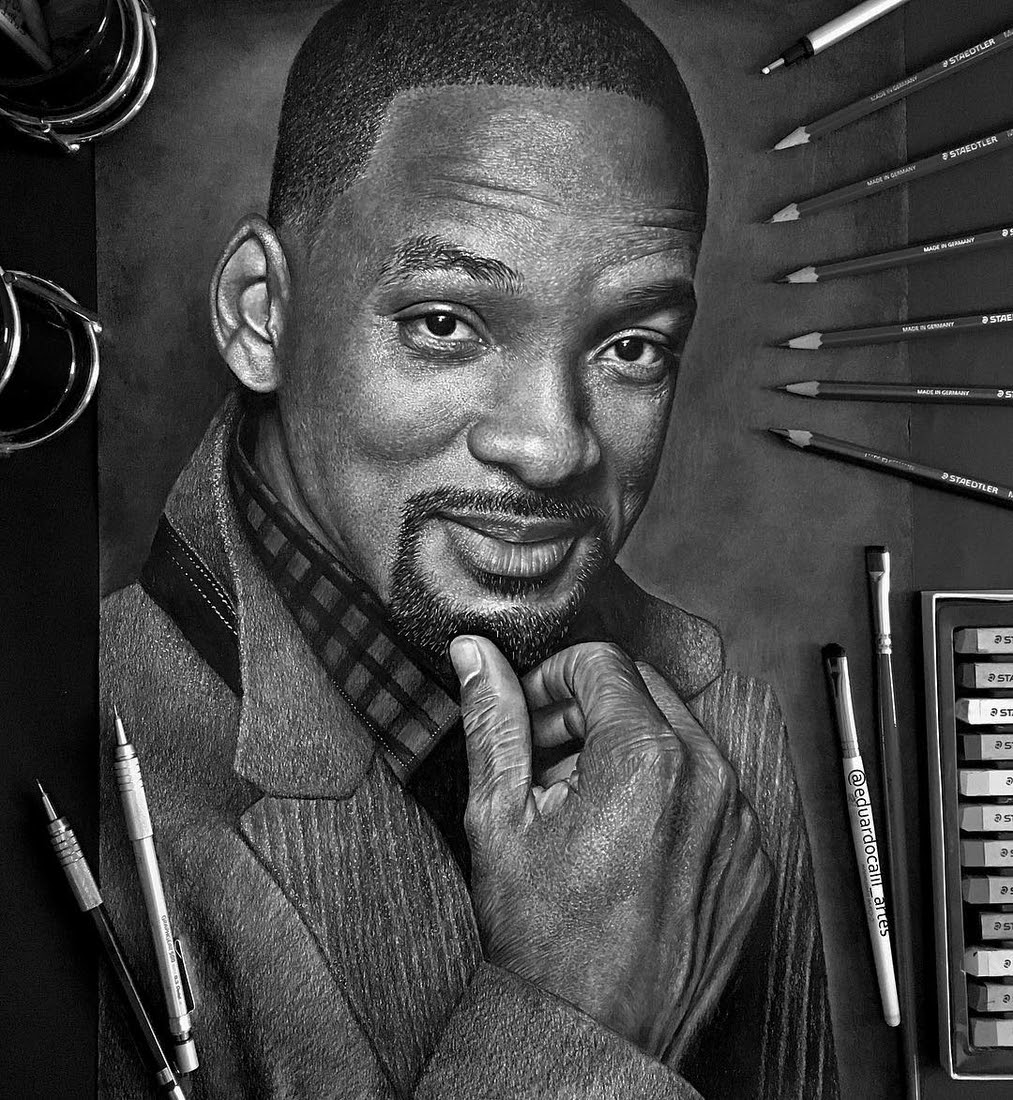 10-Will-Smith-Eduardo-Calil-Celebrity-Portrait-Drawings-Color-and-Black-and-White-www-designstack-co
