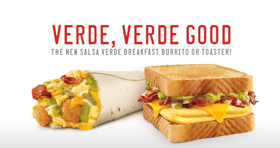 news sonic new salsa verde breakfast burrito and toaster sandwich