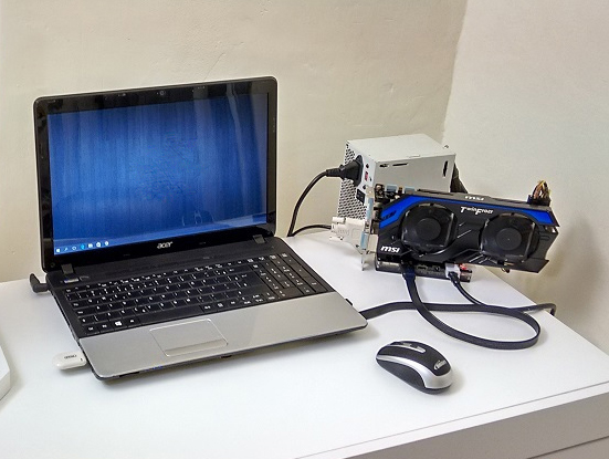 e gpu - placa de video externa notebook