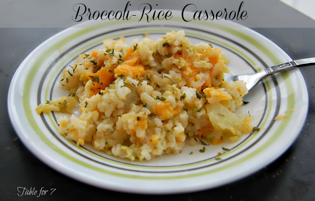 Broccoli-Rice Casserole from Table for Seven