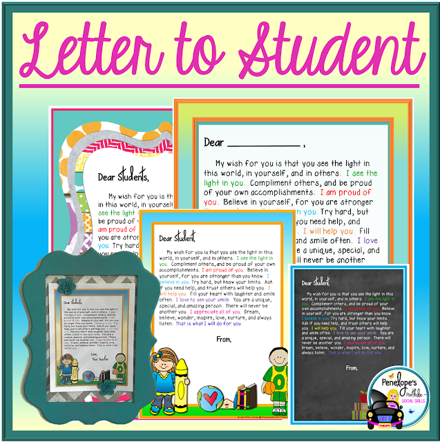 Letter to Student
