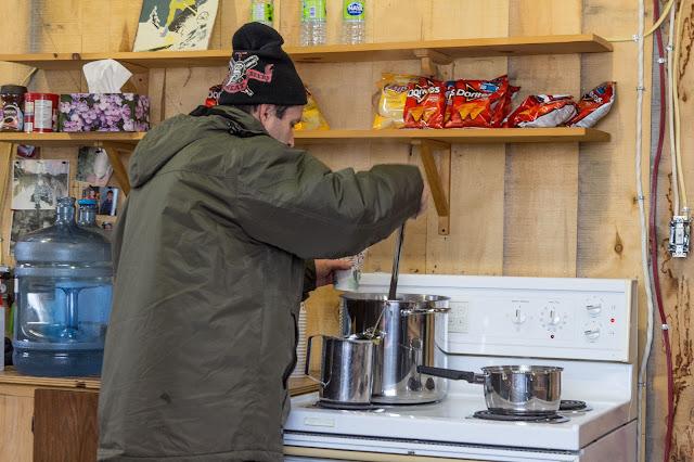 Québec City's Village Vacances Valcartier's Hôtel de Glace maple drink