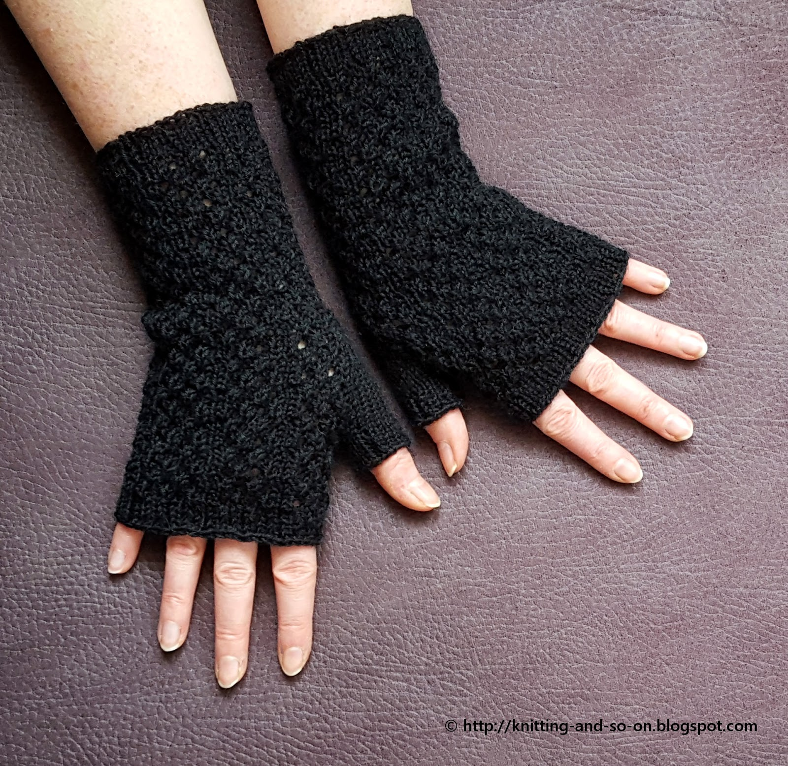 Knitting Abbreviations Yo Ssk : Knitting and so on widows weeds fingerless gloves