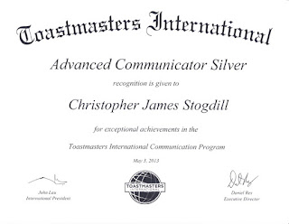 Toastmasters International Advanced Communicator Silver Award