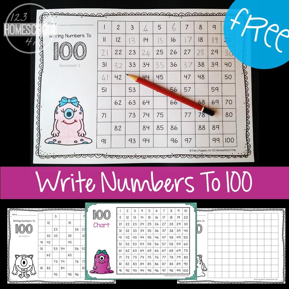 FREE Hundreds Chart Worksheets