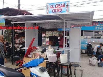 Harga Gerobak Besi Warung Es Cream