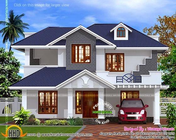 Kerala style villa exterior