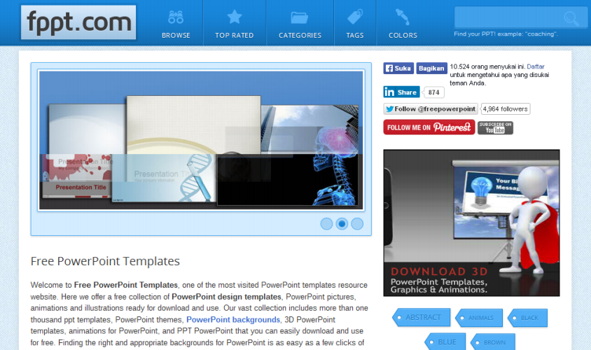 Free Download Template PowerPoint di Fppt.com