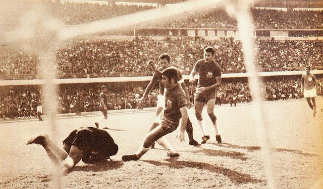 Colombia y Chile en partido amistoso, 15 de junio de 1969