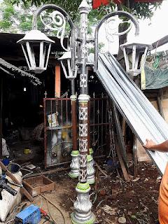 Produk Tiang, Lampu, Taman, PJU, Antik, Dzaky Jaya
