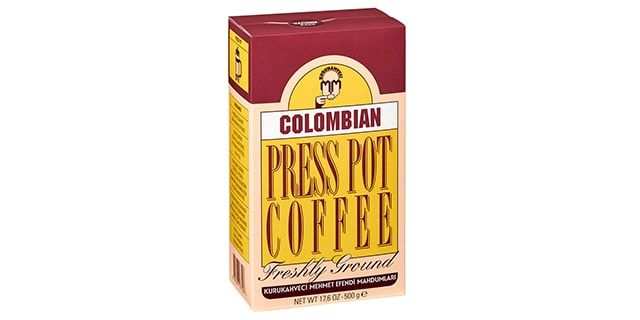 kurukahveci mehmet efendi colombian press pot  kahve - french press - KahveKafeNet