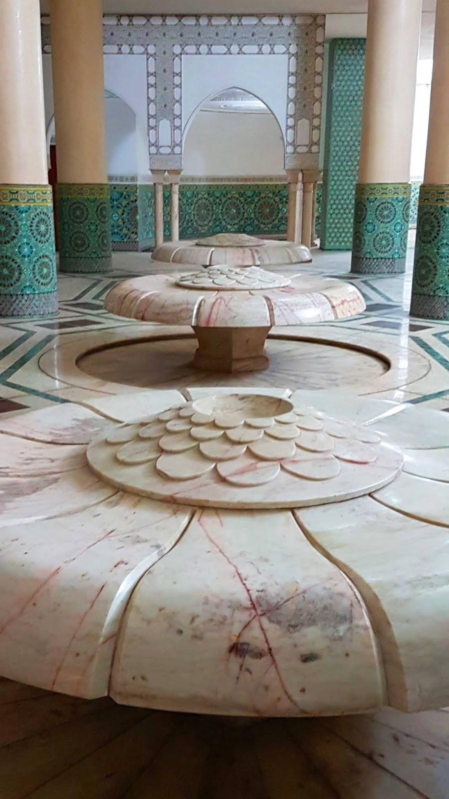Sala de Ablução Mesquita Hassan II, Casablanca.