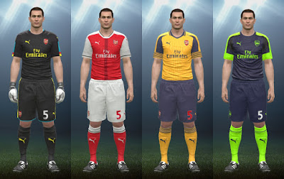 PES 2016 Arsenal FC 16/17 Kits by IDK