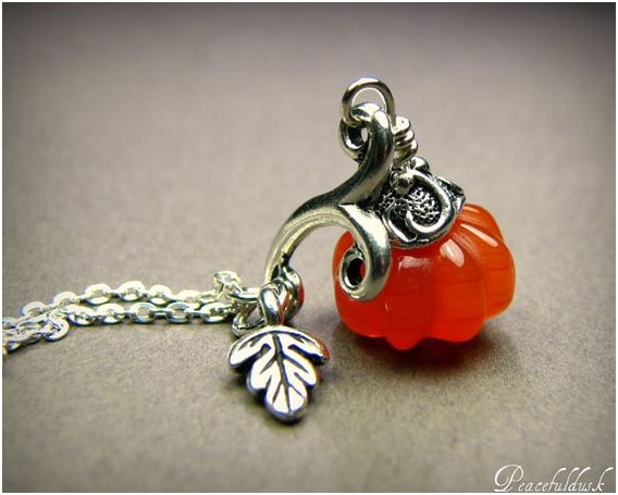 Shop Pumpkin Thanksgiving Necklace