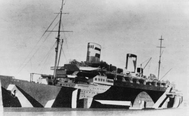 ss ts Bremen in camouflage for the Operation Sea Lion - Seelöwe