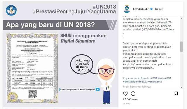 Melihat Nilai UN Secara Online