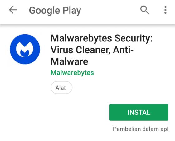 Menghilangkan virus iklan