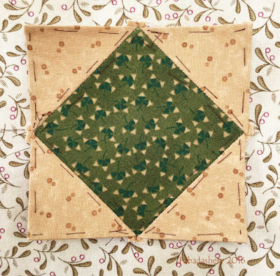 Dear Jane Quilt - Block D13 Field of Dreams