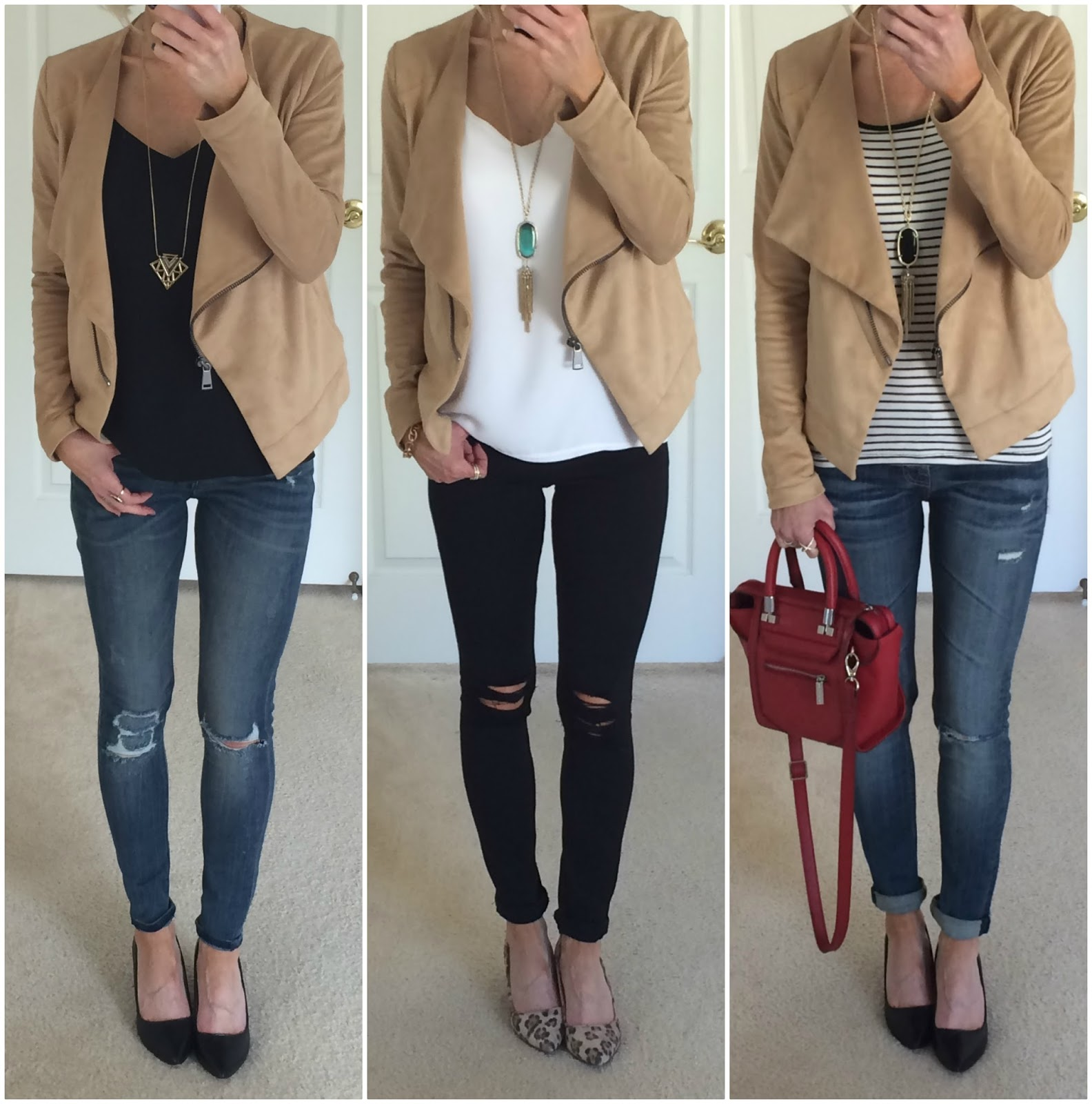 Camel Suede Moto Jacket Outfits On The Daily Express