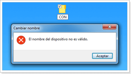 Carpeta CON Windows