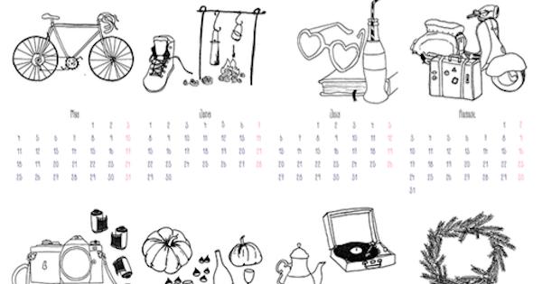 i diari della lambretta: 2015 illustrated calendar