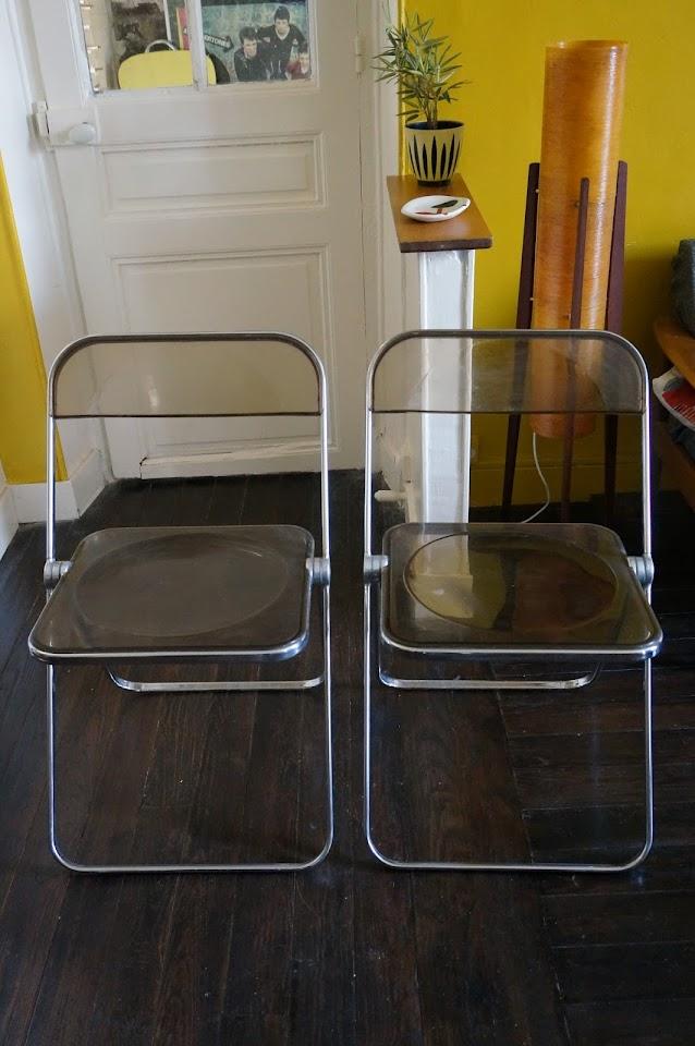 Chaises Pliantes Plia - Plia chairs   Giancarlo Piretti pour Castelli 1960s 60s 1970s 70s