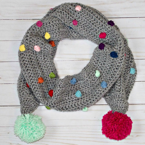 Confetti Scarf with Bobble Stitch - Free Pattern