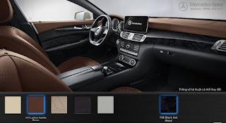 Nội thất Mercedes CLS 400 2017 màu  Nâu Saddle 214