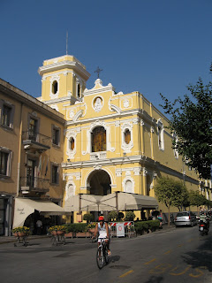 The Santuario del Carmine overlooks Sorrento's Piazza Tasso
