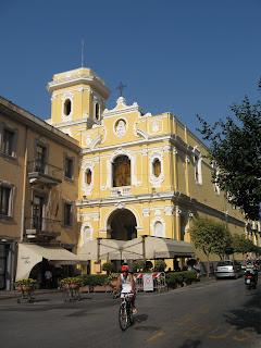 The Santuario del Carmine overlooks Sorrento's Piazza Tasso