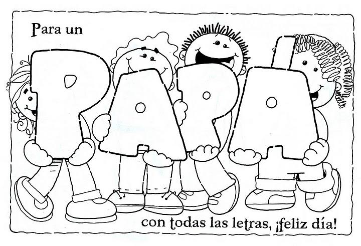Dibujos Del Dia Del Padre Coloreados: Colorear Y Pintar El DIA DEL PADRE