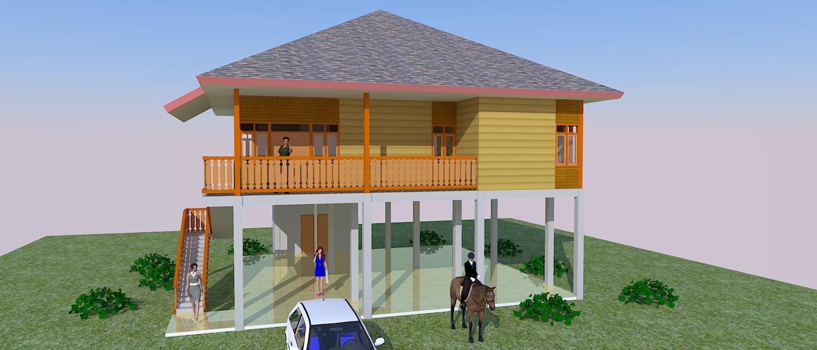 Rumah Kayu Jasa Pembuatan Site Plan