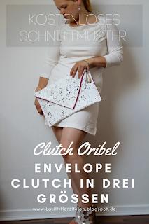 Lade dir mein erstes Schnittmuster für eine Tasche kostenlos herunter! Die Clutch Oribel gibt es in drei Größen und du kannst sie mit Innentaschen oder Reißverschlussfach zusätzlich für dich individualisieren! Die elegante Envelope-Clutch kann zu jedem Anlass getragen werden!
