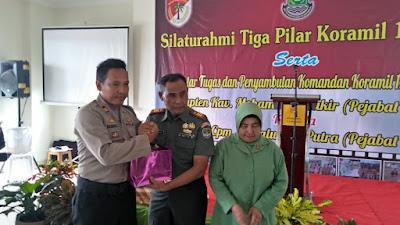 Tiga Pilar Hadiri Silaturahmi dan Lepas Sambut Koramil 12/Rajeg