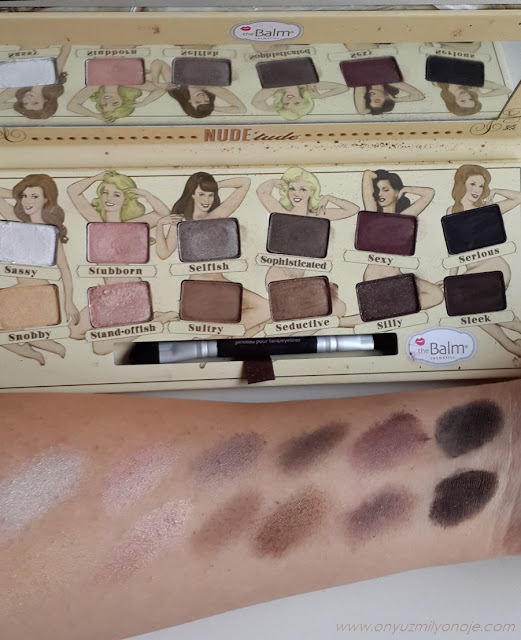 The Balm Nude Tude Far Paleti swatch