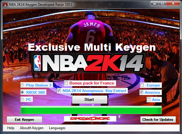 nba 2k14 free keys