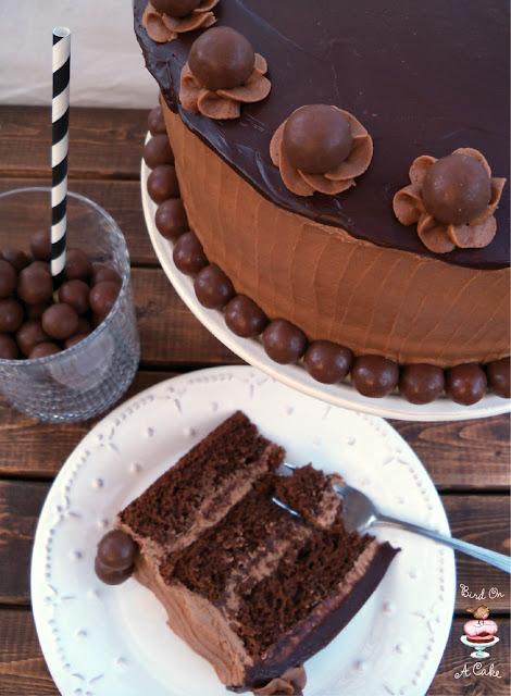 Bird On A Cake Triple Chocolate Malt Cake