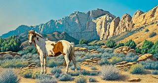 pintura-realistas-de-caballos-y-venados caballos-pinturas-realistas