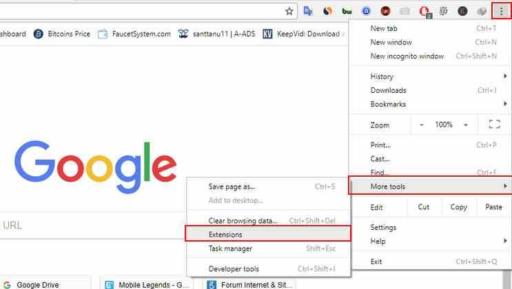 Cara mudah membuka situs yang diblokir di Google Chrome melalui sistem operasi windows 7