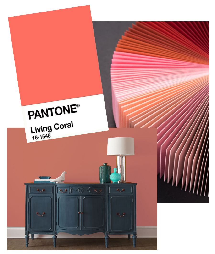 Color Pantone 2019 Living Coral Lair Art Decor