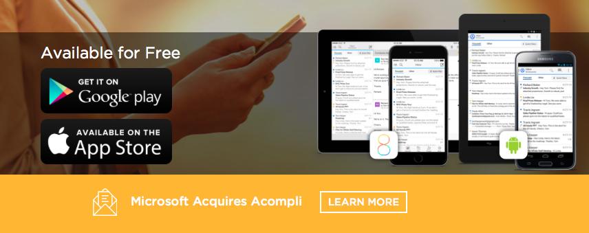 微軟以2億美元併購行動Email服務新創公司Acompli