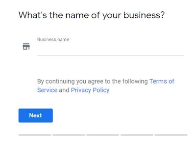 Kemudian anda disuruh untuk melakukan pengisian data-data, dalam hal ini Nama Bisnis anda. Silahkan isi pada kolom tersebut dengan nama bisnis anda. Setelah diisi, Klik Next