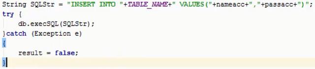 thêm dữ liệu trong SQLite 2