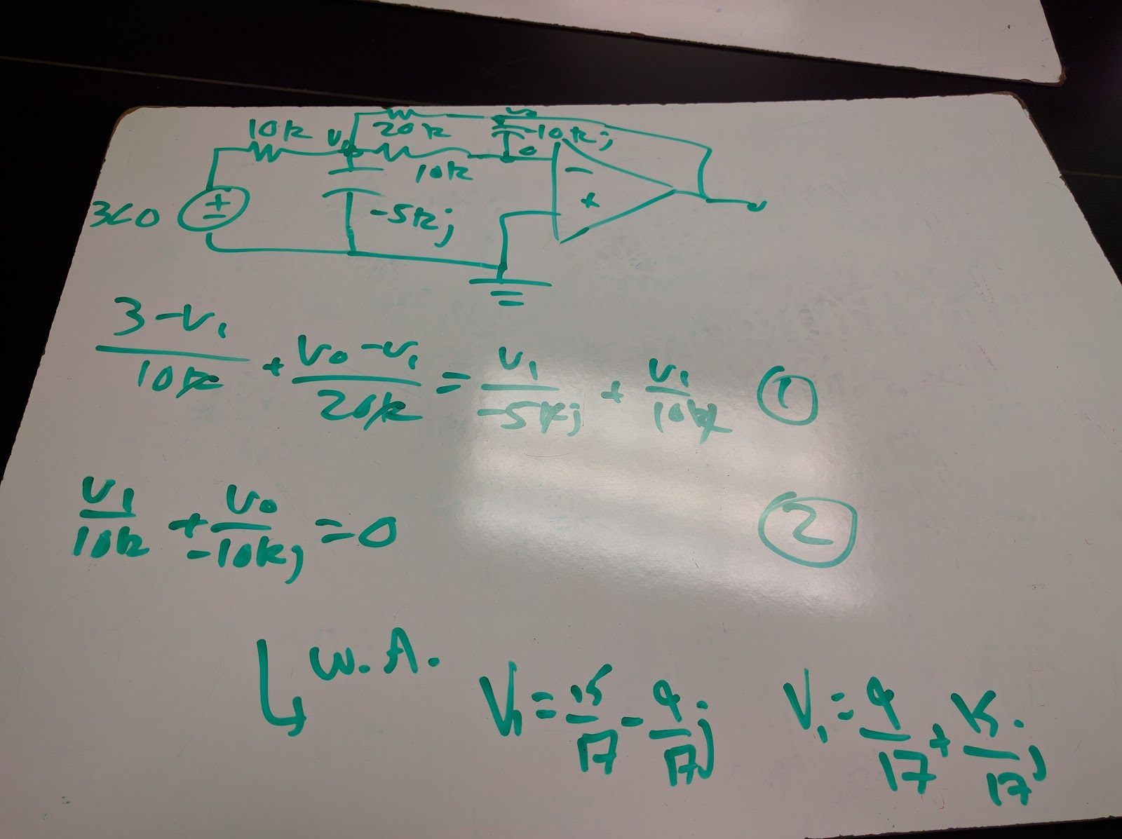 how to solve op amp problems