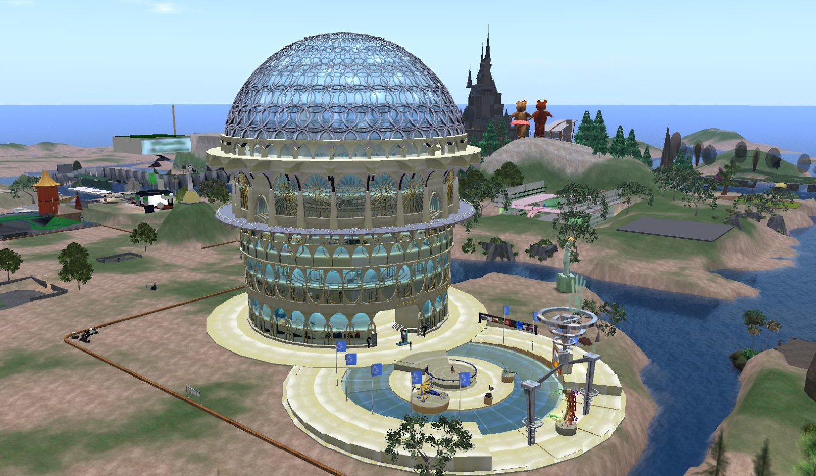 Second Life Newser: Lumiere Noir, Creator of the Ivory Tower of