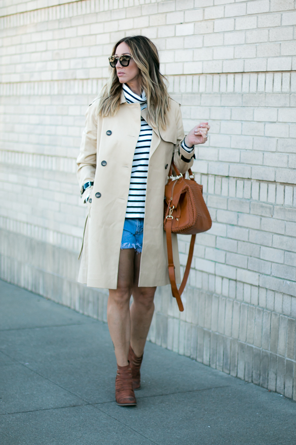 parlor girl military trench coat style