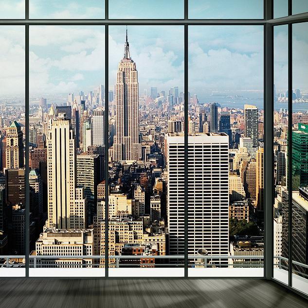 Nice New York City Skyline Mural